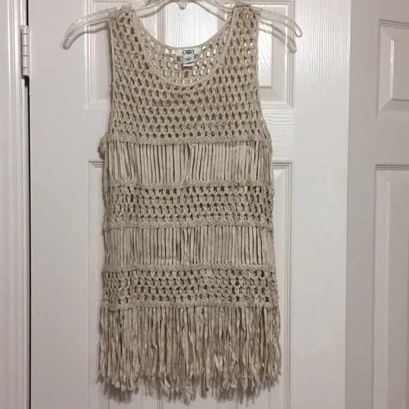 Cato Tops - Fringe sleeveless tank